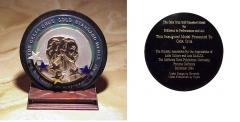 Celia Cruz Gold Standard Medal front and back