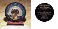 Celia Cruz Gold Standard Medal front and back
