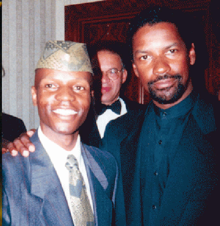 Nijel Binns and Denzel Washington