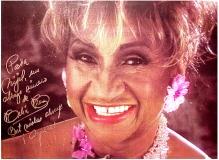 Celia Cruz autographed poster to Nijel