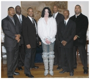 Michael Jackson and Nijel's security team