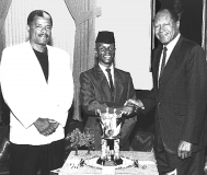 Nijel with Mayor Tom Bradley and Robert Watt