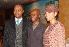 With Guy Lumumba and Attalah Shabazz