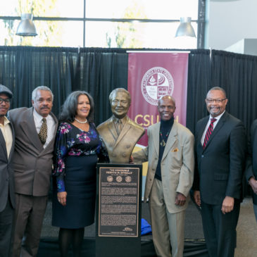 Mervyn M. Dymally bust unveiled at CSUDH