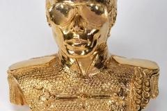 Michael Jackson gold ceramic bust 1985