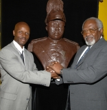 Dr. Julius Garvey with Nijel Binns