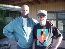 Ed Dwight with Nijel Binns