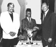 Nijel with Mayor Tom Bradley and Robert Watt