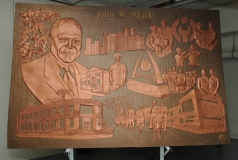 John Mack finished bas relief
