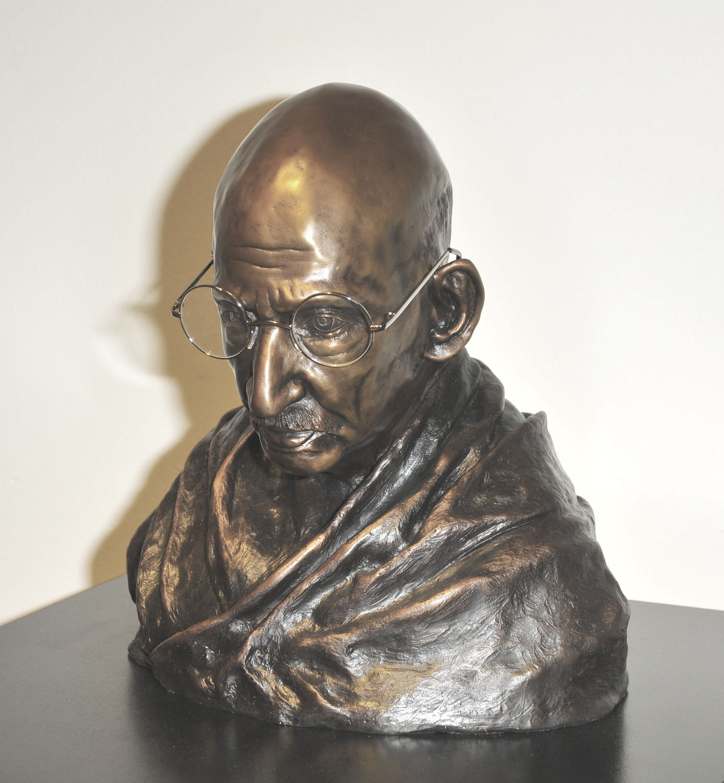 Gandhi bronze