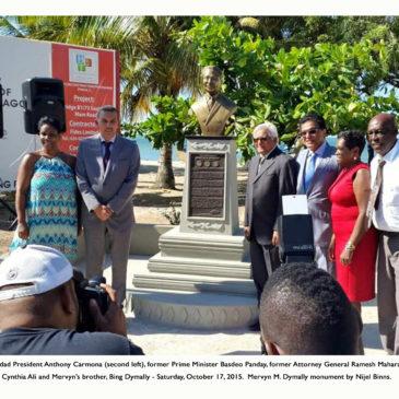 Mervyn M. Dymally bust unveiled in Cedros, Trinidad